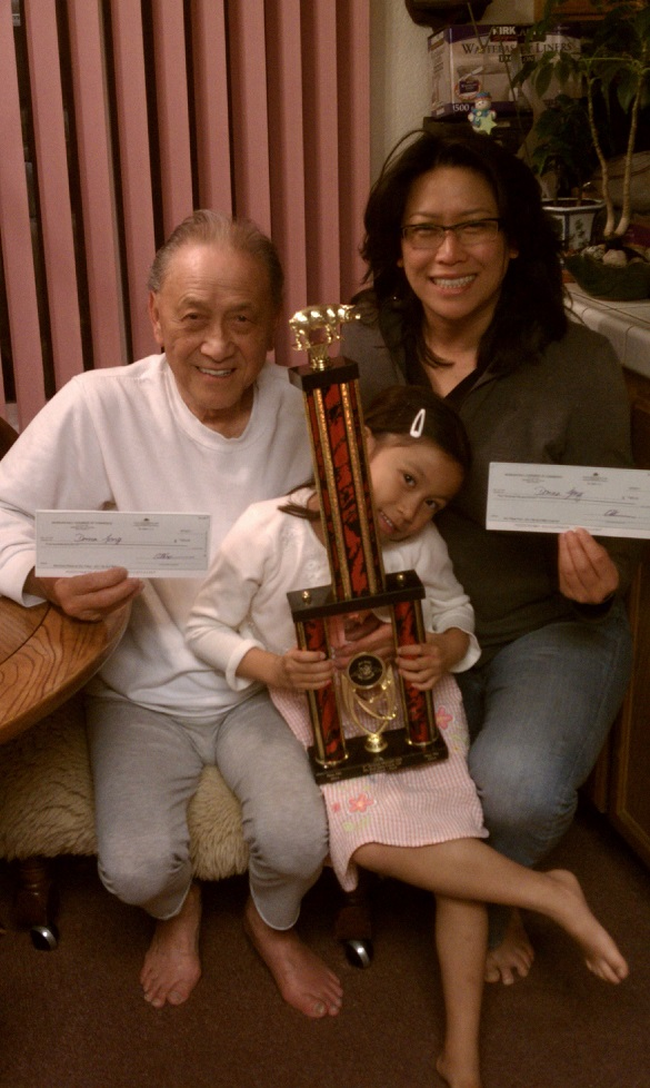 First trophy from Way Out West, Stockton, 2011 (pictured Donald, Miranda and Donna)