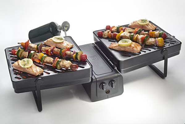 Elevate Grill by PointElevate.com.  Dual cooking surfaces