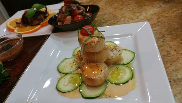 Grilled Scallops w Bearnaise Sauce
