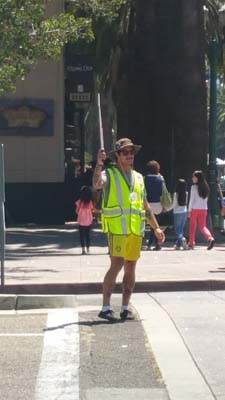 We had many volunteers including those serving as crossing guards