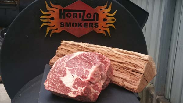 Horizon Smoker with Tasmanian Cape Grim beef and Ironbark wood