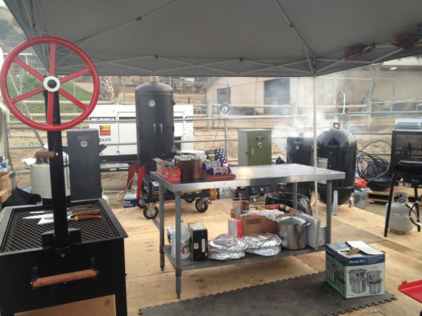 Cook area setup for Rodeo cook