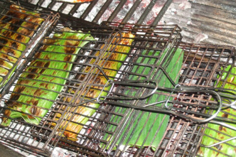 Malaysia Otak Otak Spicy Fish Custard in Banana Leaf