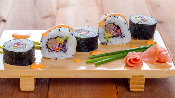 Slapilicious BBQ Pulled Pork Sushi Roll