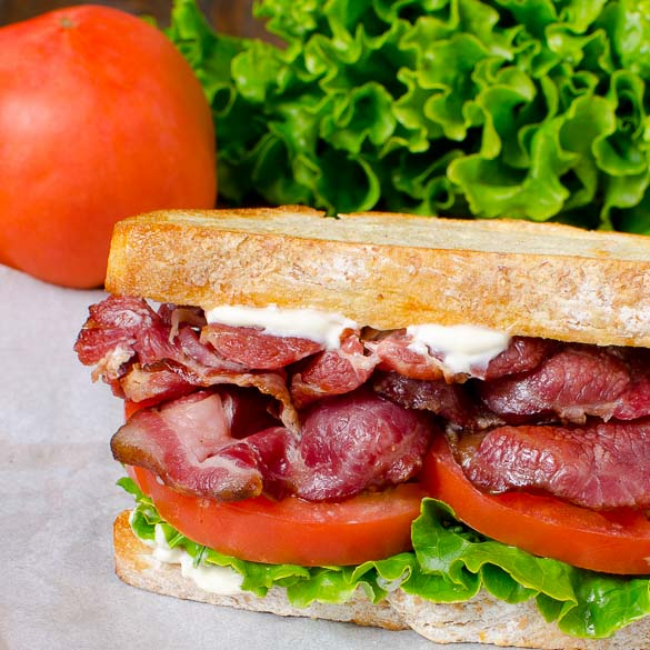 SRF Pork Collar BLT