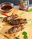 Grilled Lemongrass Beef Sticks with Sweet BBQ Sauce
