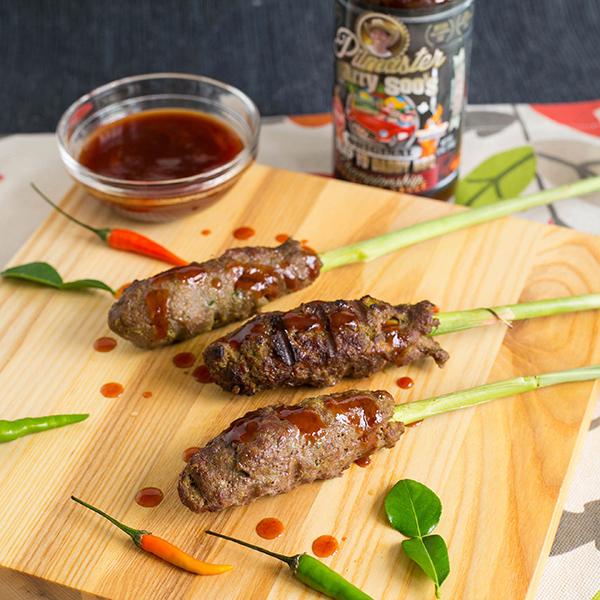 Grilled Lemongrass Beef Sticks With Sweet BBQ Sauce