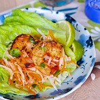 Lemongrass Grilled Shrimp w Jicama Carrot Salad