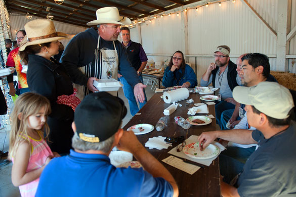 Pitmaster facing six judges in a SYD backyard contest