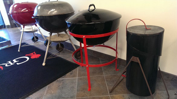 First Weber Kettle was adapted from a marine buoy by George Stephen