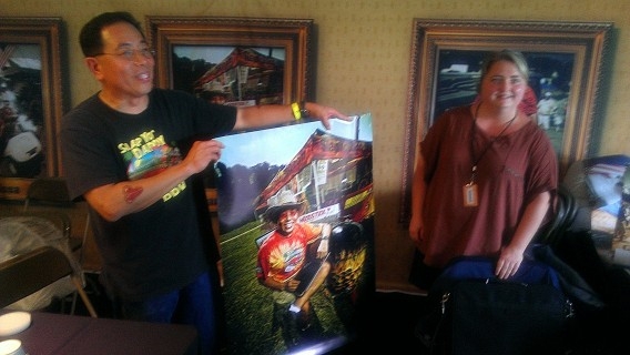 The Danish national team presented Harry with a big poster shot at the 2012 Jack Daniels contest
