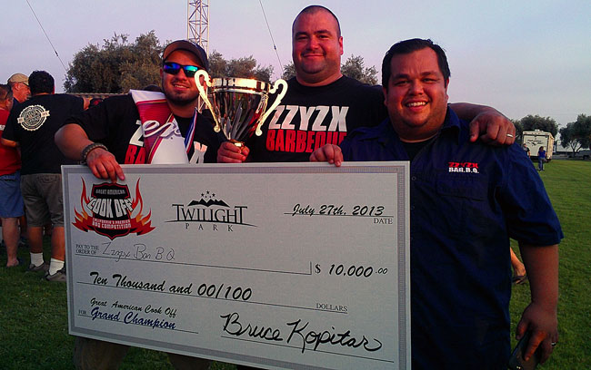 Congratulations to Jason of Zzyzx BBQ for winning the GC!