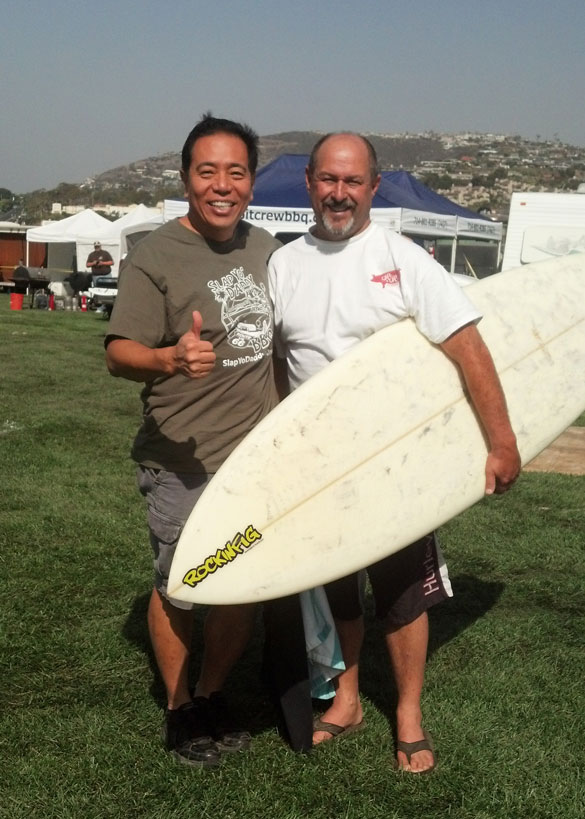 BBQ and surfing go together at Dana Point, Calif. Harry and Roger of R&R Barbecue