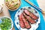 Miso Marinated Flat Iron Steak with Soba Noodles
