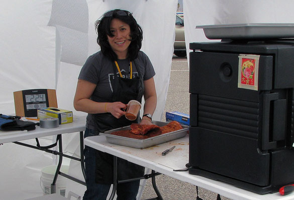 Donna Fong, Grand Champion Pitmaster, Butchers Daughter BBQ, Alameda, Calif.